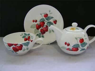 Pretty Tea Set for 1 in Strawberry Design by Laura Ashley.
