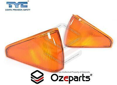 Pair LH+RH Hand Corner Indicator Light For Ford Falcon XE 1982~1984 Amber