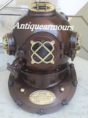 Nautical US Navy Heavy Vintage Divers Diving Helmet Reproduction Replica Item