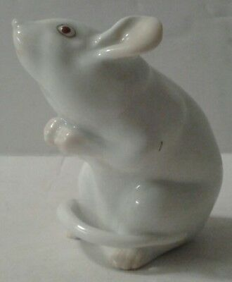Herend Hungary Porcelain Mouse Figurine Hand Painted Signed And Numbered