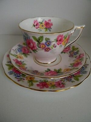 Vintage Melba Bone China Cup saucer and plate