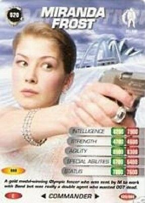 James Bond 007 Spy Cards MIRANDA FROST Trading Card # 20 COMMON Die Another Day