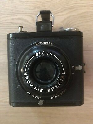 Vintage camera - Kodak Six-16 Brownie Special - with leatherette case