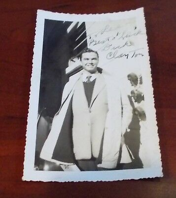 Richard Clayton Hand Signed Vintage Photo...Actor +Talent Agent..