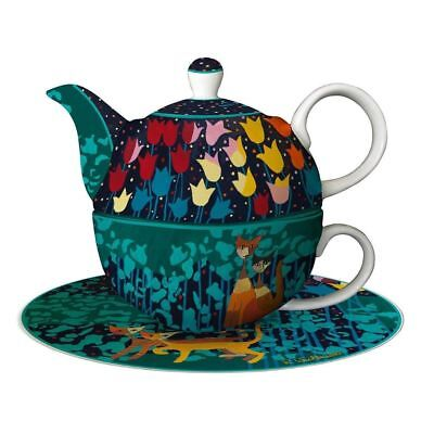 "Goebel Tee-Set - Tea for One "" TULIPANI "" R. Wachtmeister - Teekanne + Tasse"