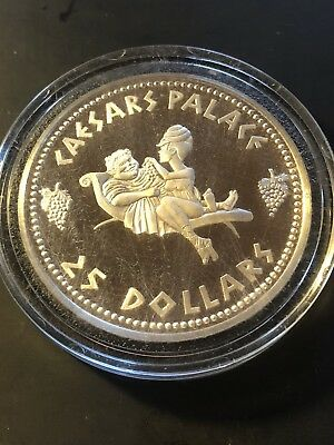 Ceasars Palace $25 Silver Strike Coin