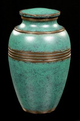 ELEGANTE ANIMAL URN - ROND TURQUOISE bronzé - CHIEN CHAT OVALE Noble Urne animal
