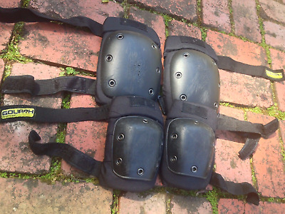 Skate Goliath Protective Knee Elbow Pads Black Size M Used EXCELLENT Condition