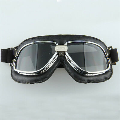 Vintage Dirt Bike Motorbike Aviator Flying ATV Goggles Eyewear Retro Pilot Eye
