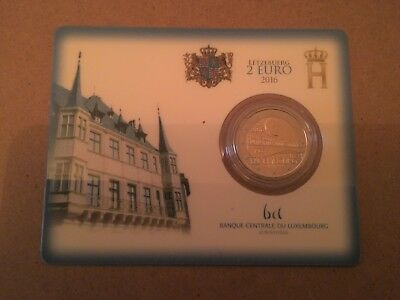 Coincard 2 Euro Luxembourg Annee 2016