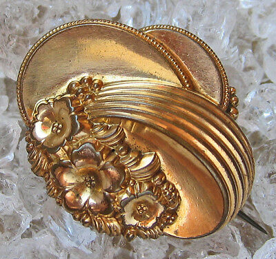 ☆Nice★ Antikschmuck antike Brosche in aus Double Gold Biedermeier antique Brooch