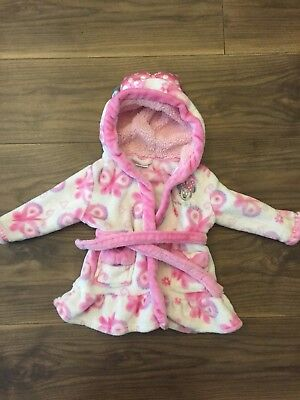 Girls Dressing Gown DISNEY 6-9 Months Minnie Mouse