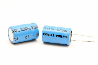 ELECTROLYTIC CAPACITOR PHILIPS 1000uF 25V NOS (New Old Stock) 1PC.CA59U50F131015