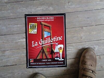 La guillotine reclame beer sign PVC new family brewery Huyghe Belgium