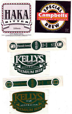 AUST. Qld. KELLYS BREWERY. 4 MINT MICROBREWERY LABELS.