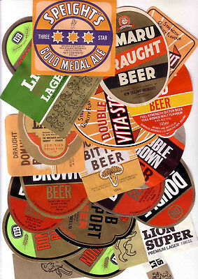 New Zealand Old Beer Labels.  All Mint. 20 Labels.