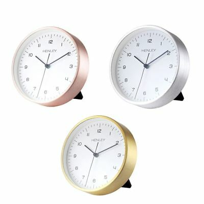 Henley Table Desk Silent Sweep movement Clock Copper Gold Silver HCM001