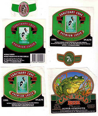 AUST. Qld. CANE TOAD and PREMIUM LAGER x 3 DIFFERENT VERSIONS.  ALL MINT.