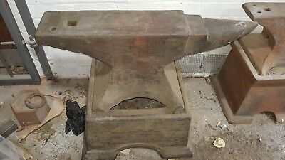 Very Large Blacksmith  single horn anvil and stand