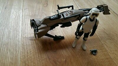 Star Wars Kenner Vintage Endor Speeder Bike + Scout Trooper