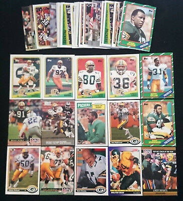 58 x Green Bay Packers NFL Football Cards 1979 - 1992 Bulk Lot Assorted