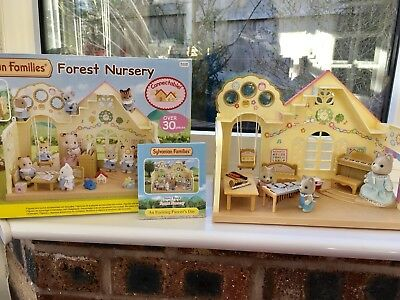 Sylvanian Families Forest Nursery With Music Set Boxed