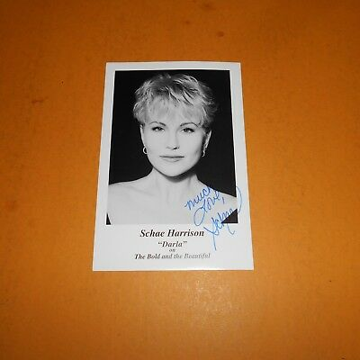 Schae Harrison is an American actress Hand Signed Photo