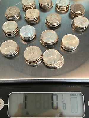 US Junk Silver Quarters, 1 pound lot, Pre 1965, 90%, No Reserve