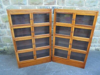 Pair Antique Mahogany Sectional Bookcases By Minty