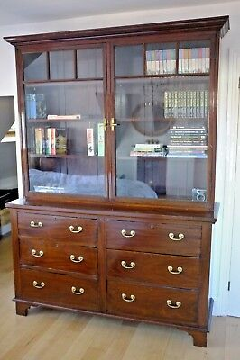 Bookcase with drawers, Mahogany, Edwardian, good condition