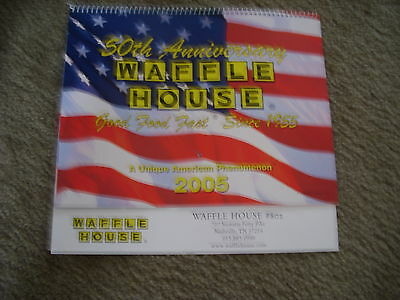 WAFFLE HOUSE --50th ANNIVERSARY-- CALENDAR --NEVER BEEN USED