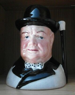 Staffordshire Potteries  Sir Winston Churchill hand made & painted Character Jug