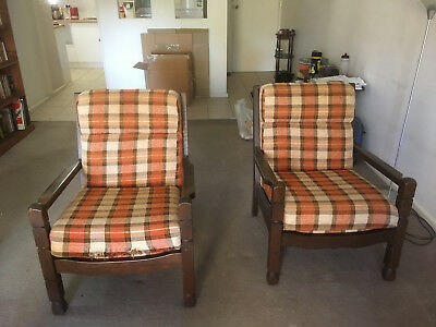 Retro Parker lounge and chairs 1970 needs some upholstering love