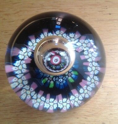 W MANSON Caithness REflections Vintage Millefiori Paperweight Numbered