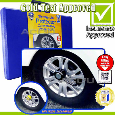 Stronghold Protector SH5432 Caravan Insurance Approved Security Wheel Clamp Lock