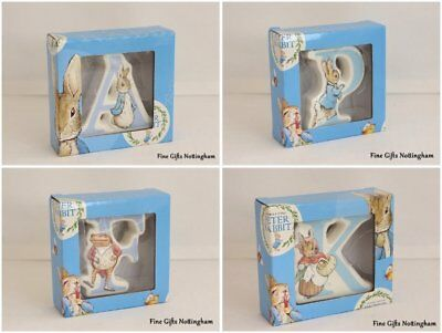 Beatrix Potter Alphabet Letters - Baby Nursery Ceramic Gifts Letters
