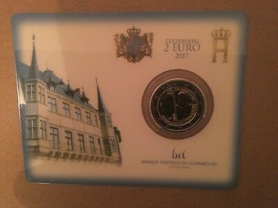 Coincard 2 Euro Luxembourg Annee 2017 -