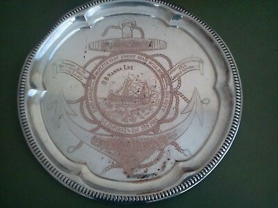 1905 Centenary Admiral Nelson Memorial Fund Plaque Copper Inscribed D.B. Hanna