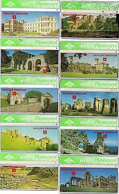 Bt Phonecards – English Heritage (Full Set Of 10 Phonecards)