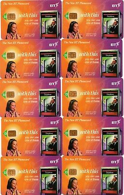 The New Bt Phonecard (10 Phonecards - All The Same £2.00 Units)