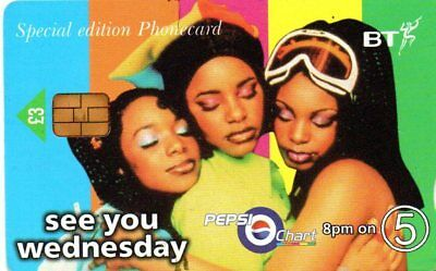 BT PHONECARD – PEPSI CHART 8pm ON 5 SPECIAL EDITION PHONECARD