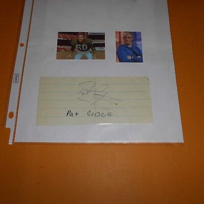 Pat Croce is an American entrepreneur & Bob Cicconi Hand Signed 2 Items