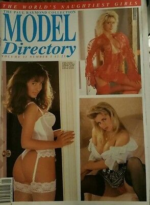 VINTAGE MODEL DIRECTORY VOL 11 Number  1 MEN'S GLAMOUR MAGAZINE BY PAUL RAYMOND