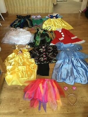 Girls dressing up clothes. 5-8 years- Disney, M&S, ELC & Primark - used and new