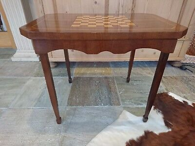 Antique inlaid chequerboard table