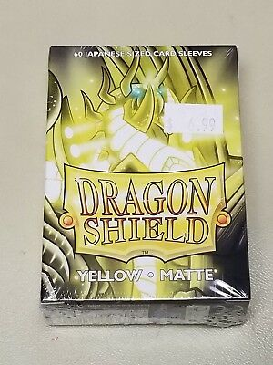 Dragonshield Protective Card Sleeves 60 Sleeves per Box Matte Yellow