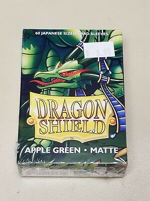 Dragonshield Protective Card Sleeves 60 Sleeves per Box Matte Apple Green