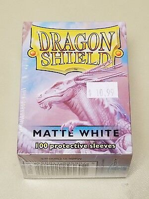 Dragonshield Protective Card Sleeves 100 Sleeves per Box Matte White