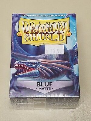 Dragonshield Protective Card Sleeves 100 Sleeves per Box Matte Blue