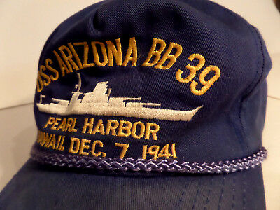 USS Arizona bb39 Pearl Harbour collectable hat